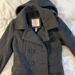 American Eagle Charcoal Peacoat